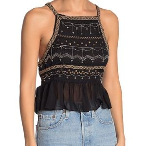 Free People CamilleBead Embellished Camisole